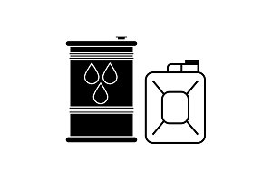 Fuel icon. Can with fuel icon black