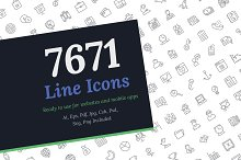 7671 Line Icons by  in Icons