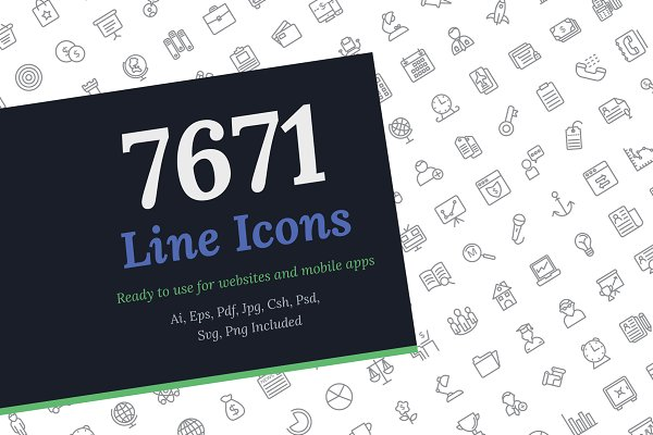 Icons: Vectors Market - 7671 Line Icons