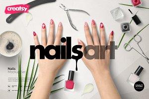 Nails Mockup Set