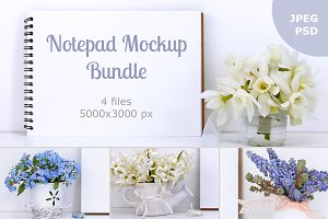Notepad mockup bundle
