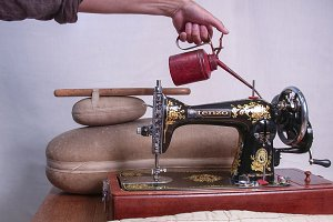 Oiled Sewing Machine