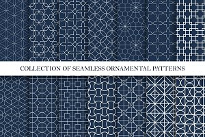 Ornamental seamless vector patterns.