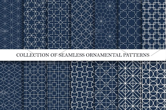 Ornamental Seamless Vector Patterns