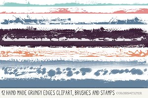 Handmade Grungy Edges Brushes/Png