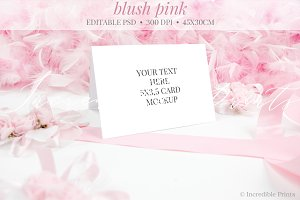 Blush Pink Place Card Mockup