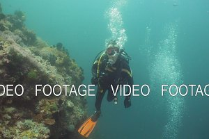Diver under water.