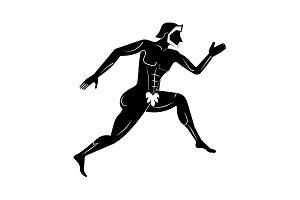 Athlete icon. Greek Athlete icon