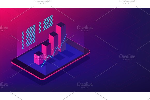 Isometric Investment And Financial Advisory 3D Isometric Vector Illustration