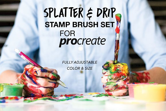 Splatter Drip Stamp Brush Set