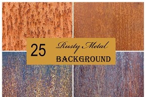 25 Rust Metal Texture Background