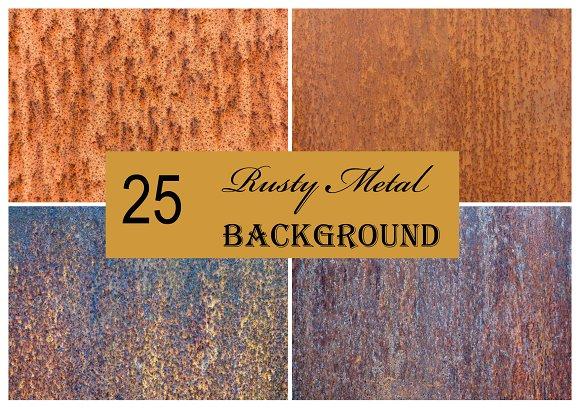25 Rust Metal Texture Background