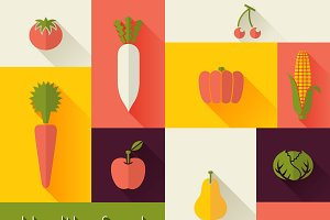 Healthy Food and Farm Fresh Concept