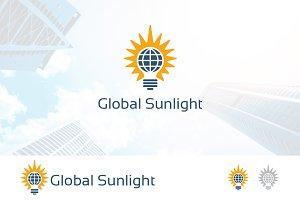 Global Sun Light Bulb Logo