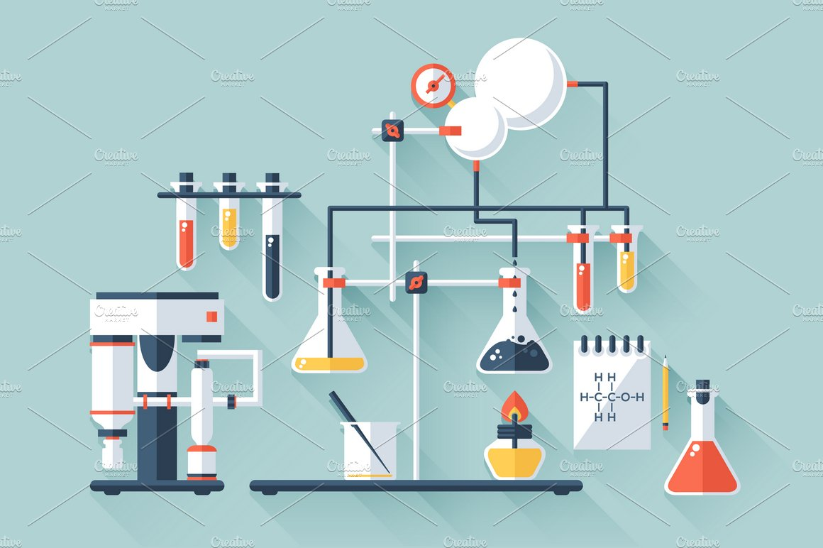 chemistry laboratory illustrations creative market