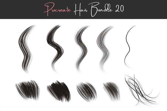 Procreate Hair Brushes 2.0 | Creative Daddy