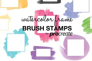 Frame Brush Stamps for Procreate
