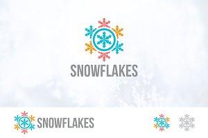Snowflake Frozen Ice Logo