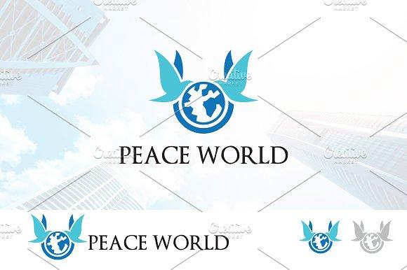 Twin Dove Peace Agent Logo