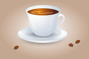 Classic black tee/ coffee