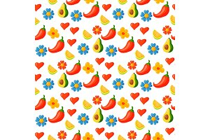 Nature flower illustration seamless pattern background floral summer vector