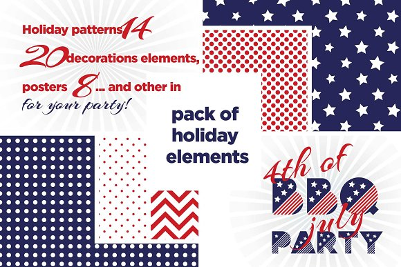4th July Pattern Pack