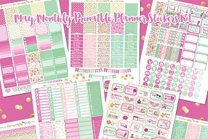 May Printable Planner Stickers