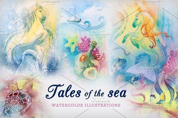 Watercolor Illustrations Sea