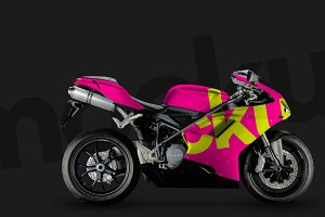 4K Ducati Motorcycle PSD mockup