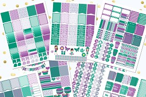 April Printable Planner Stickers
