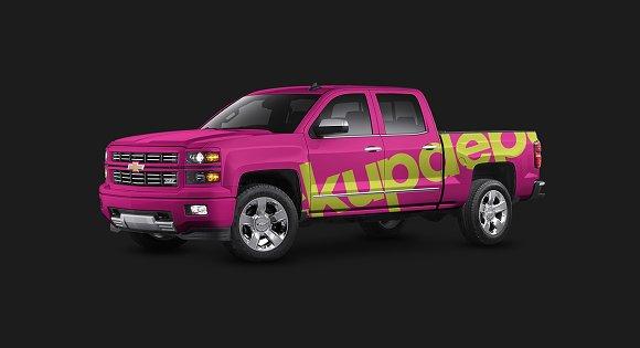 Download Chevy Silverado Truck PSD mockup v2