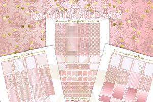 Rose Gold Printable Planner Stickers