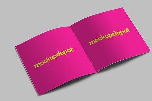 4K Square Brochure PSD mockup