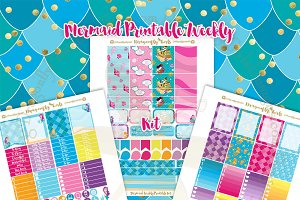 Mermaids Printable Planner Stickers