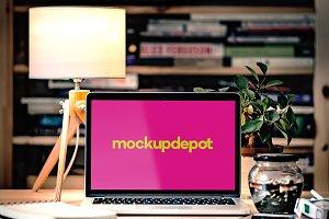 4K Macbook Pro v2 PSD mockup