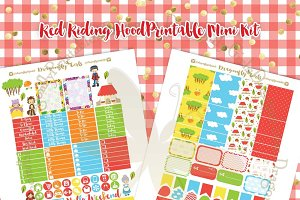 Red Riding Hood Planner Stickers