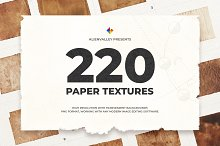 220 Unique Paper Textures by AlienValley in Textures