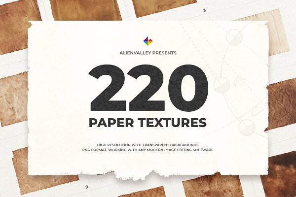 Textures: AlienValley - 220 Unique Paper Textures