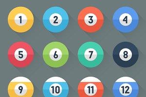 Colored Pool Balls