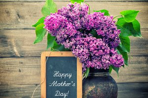 Lilac flowers. Happy Mother's Day!