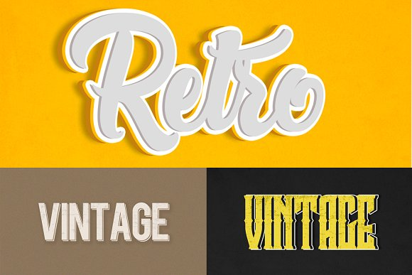 15 Retro Vintage Text Effects
