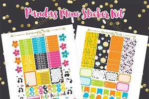 Panda Printable Stickers
