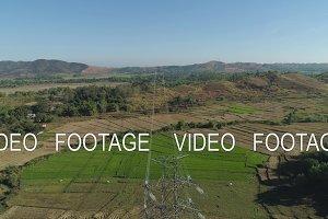 High voltage power line. Philippines, Luzon.