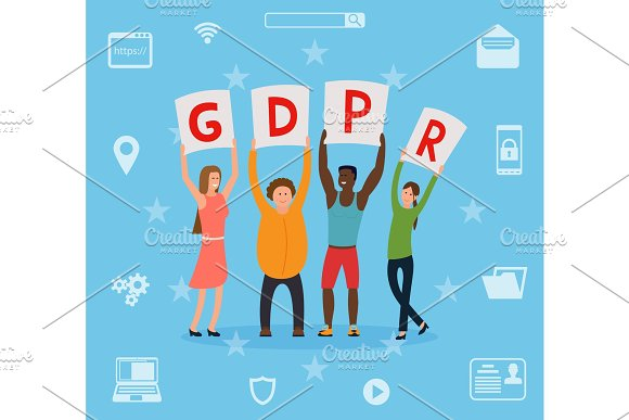 GDPR Concept Illustration Idea Of Data Protection