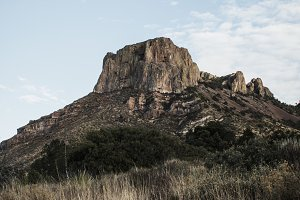 Moonrise Over Emory Peak