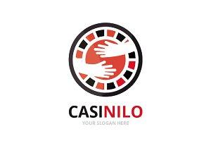Vector casino and hands logo