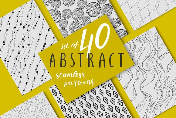 40 Abstract Black And White Patterns