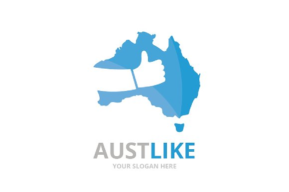 Vector Of Australia And Like Logo Combination Oceania And Best Symbol Or Icon Unique Continent And Choice Logotype Design Template
