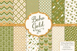 Avocado Bohemian Digital Papers