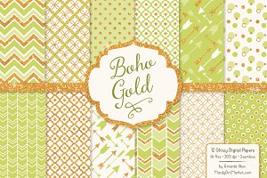 Bamboo Bohemian Digital Papers